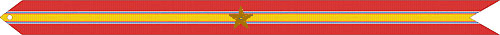 NATIONAL DEFENSE SERVICE STREAMER WITH ONE BRONZE STAR